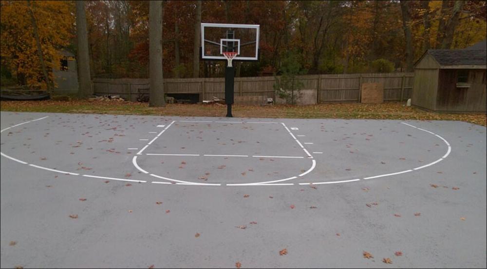Basketball Court Installation Basketball Court Painting